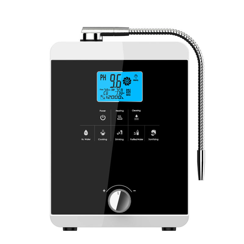 Hydrogen waterionizer with 11 titanium with platinum coating plates EHM-829