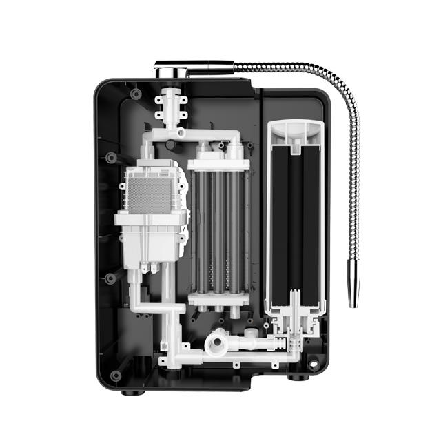 Hydrogen water ionizer with 11 titanium with platinum coating plates EHM-829